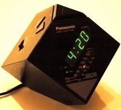 panasonic leaning cube clock radio