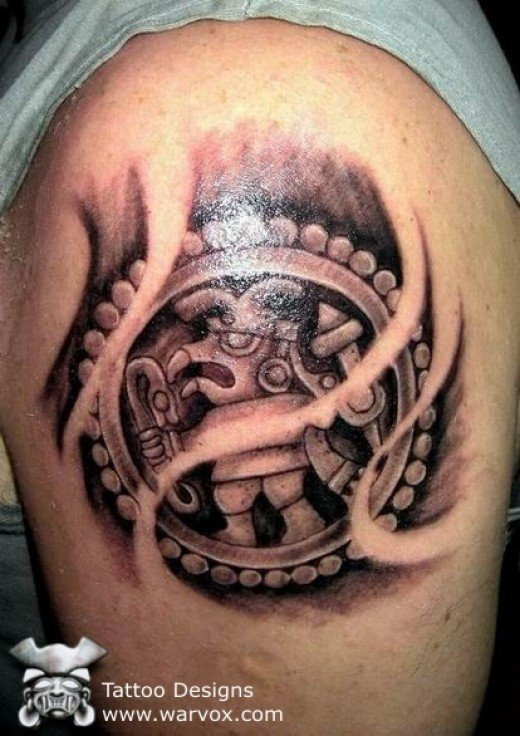 of a people their society and their culture, Modern Aztec Tattoos follow