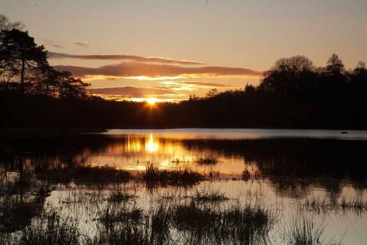 Dawn over Elterwater (English Lake District).