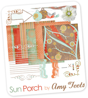 """The """"Sun Porch"""" kit by Amy Teets is available for free download at shabbyprincess.com"""