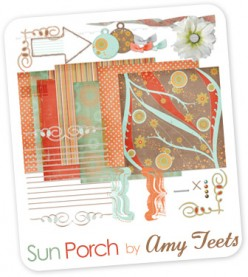 "The ""Sun Porch"" kit by Amy Teets is available for free download at shabbyprincess.com"