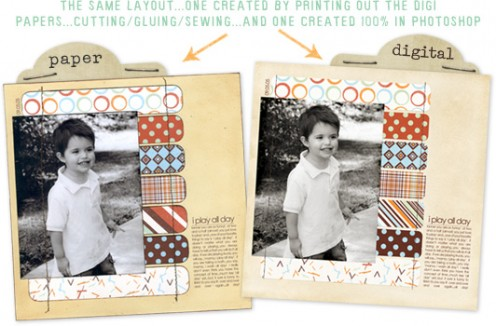 This example from theshabbyshoppe.com illustrates how similar digital layouts are to standard pages