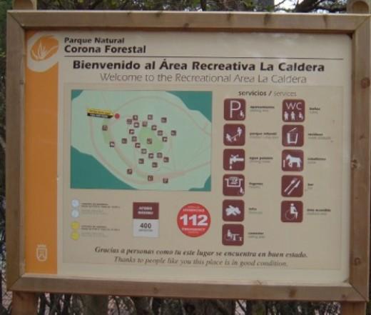 La Caldera information sign