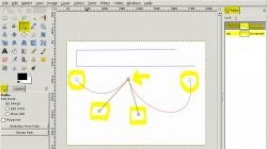 GIMP 2.8 Pen Tool Tutorial