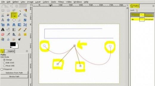 GIMP 2.8 Pen Tool tutorial screenshot