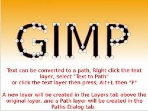 GIMP 2.8 Pen Tool and Text