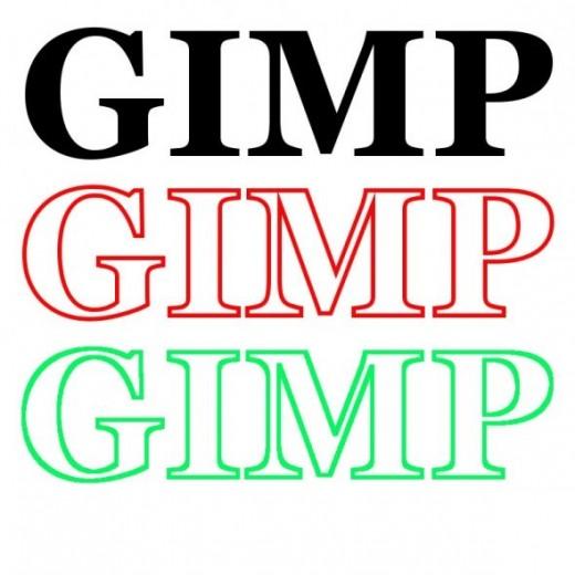 GIMP 2.8 Path tool Text sample