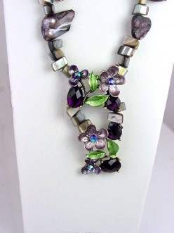 Beading Tutorial on making a necklace using 2 hole slider beads