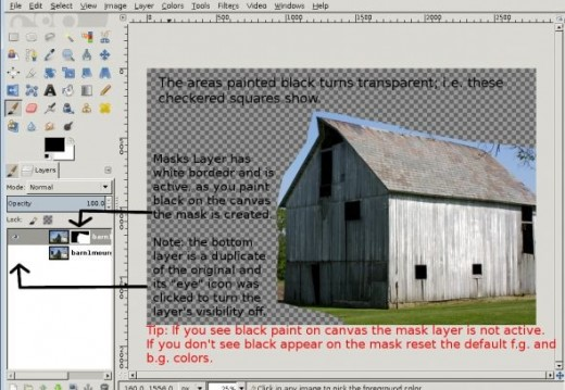 Painting a Mask on GIMP Image