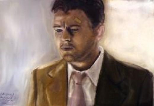 Leonardo DIcaprio Oil on canvas