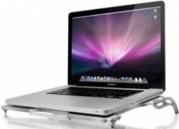 A MacBook Pro on a desktop cooling pad