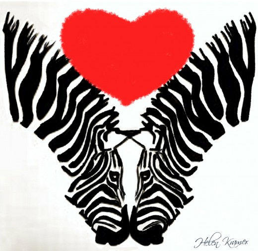 Zebra Kisses