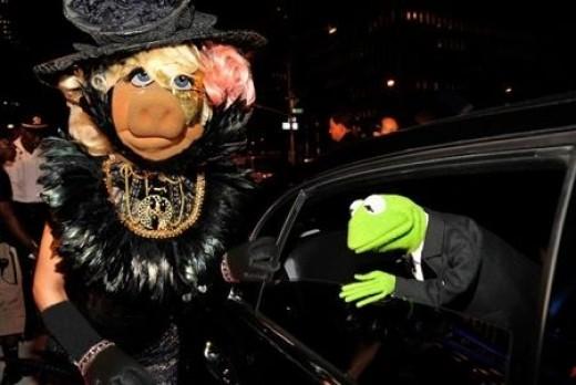 Miss Piggy as Lady Gaga.