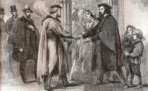 Garibaldi visits Tennyson in 1864 (Illustrated London News 23 April 1864)