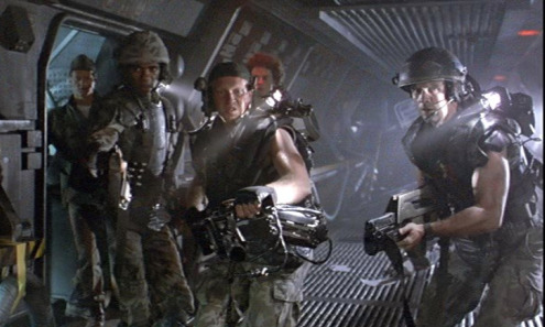 The colonial marines dispatched to investigate the colony.