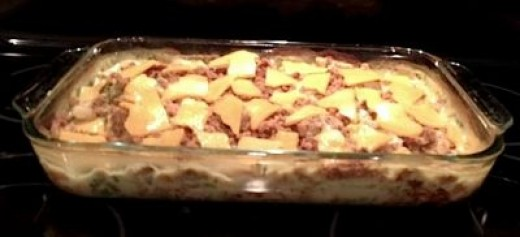 After the casserole has finished baking cover with cheese. The amazing aromas will lure people to the table!