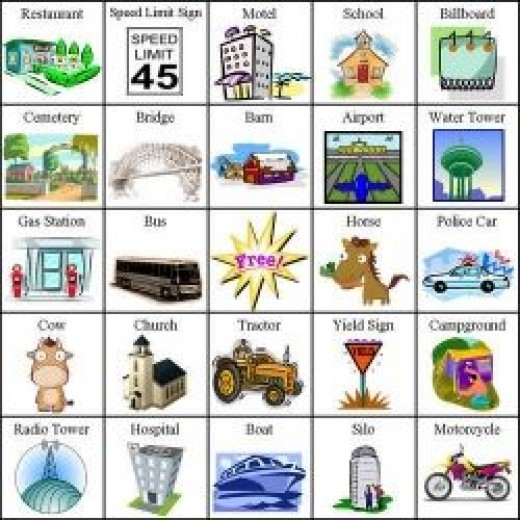 Make your own travel bingo!