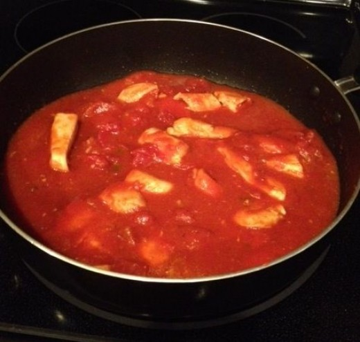 Spaghetti Sauce over Chicken by Rymom28