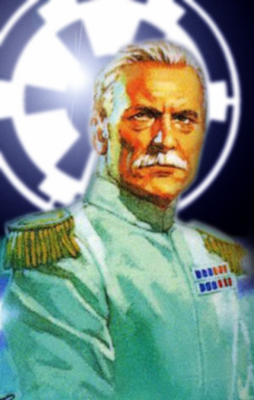 Wearing the white uniform of a Grand Admiral
