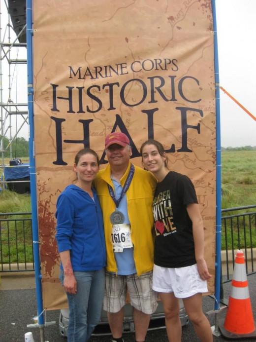 Celebrating After my husband's first half marathon