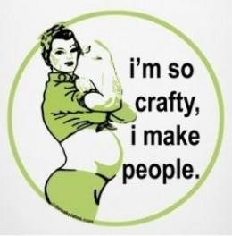 I'm so crafty maternity shirt