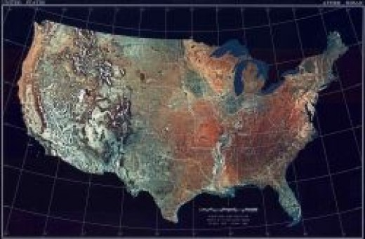 NOAA Map, public domain