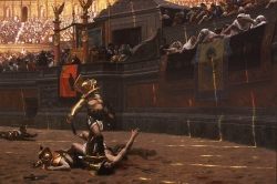 Gladiator games by Jean Leon Gerome Pollice Verso