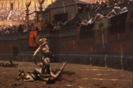 Gladiator games by Jean Leon Gerome Pollice Verso