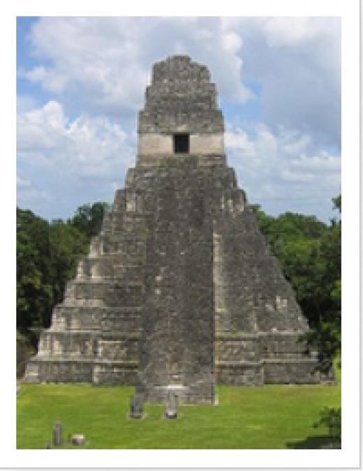 TIKAL, GUATEMALA - TEMPLE OF THE JAGUAR