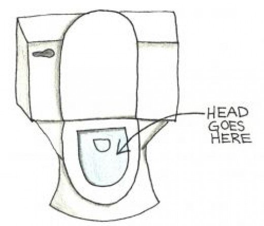 Put your victim's head in the toilet
