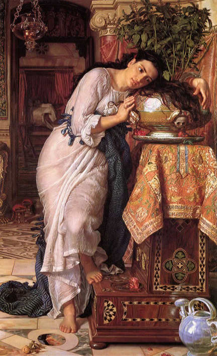 William Holman Hunt's painting of Isabella and her basil pot