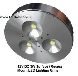 The NEW 3 Watt 12V surface / recess mount lamp is ideal for RV, caravan and motorhome users!
