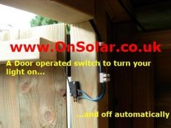 Door Operated Shed Light Switch