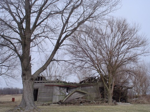 This barn has seen better days.