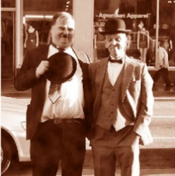 Laurel and Hardy Impersonators Dai Kornberg and Bob Druwing