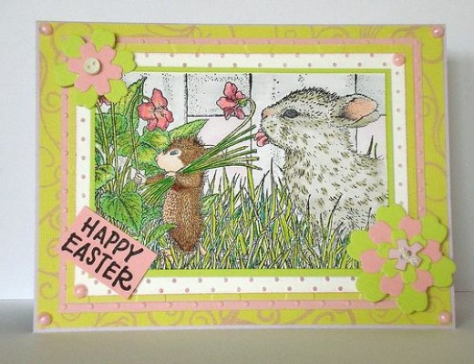 rabbit handmade card