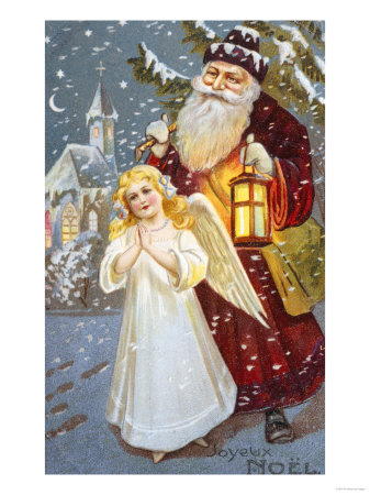 Santa and Angel Provided by AllPosters.com