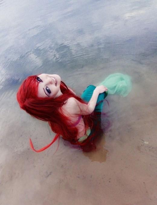 Ariel at the shore.