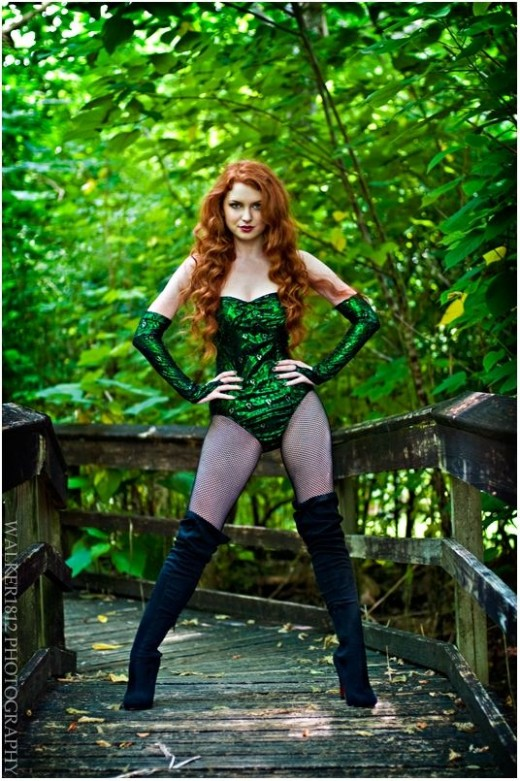 Poison Ivy Halloween costume.