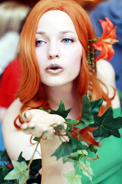 A different take on Poison Ivy, with subtle makeup.