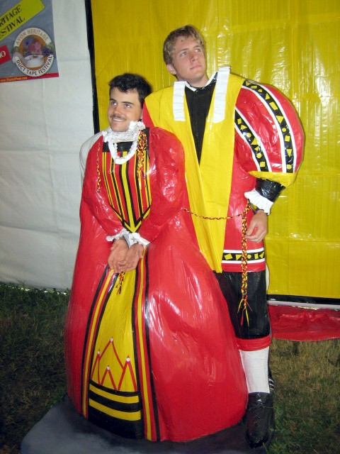 type=Royal Couple Duct Tape Costume