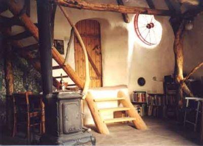 Living Room, with Wagon Wheel Window