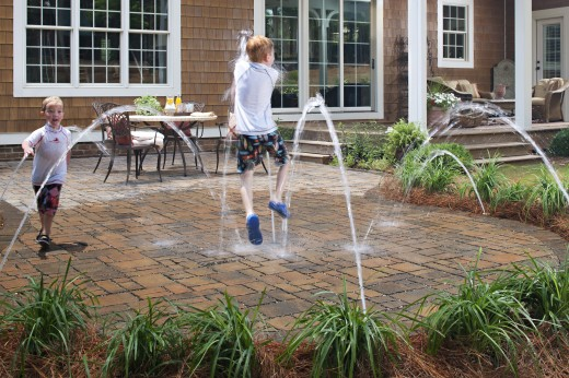 An alternative use for permeable pavers