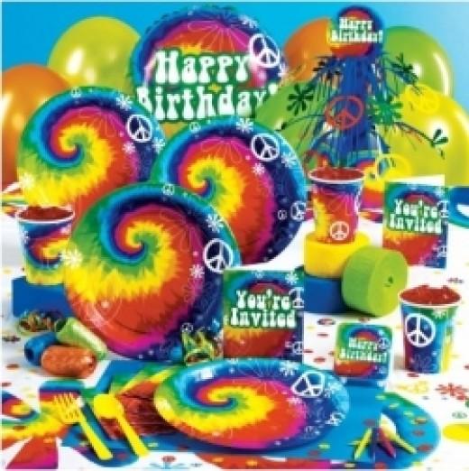 Tie Dye Birthday Party