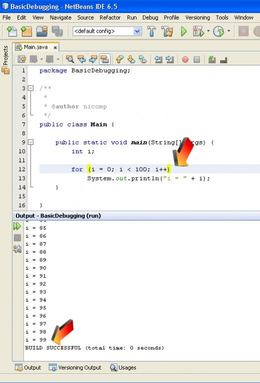 Figure 04 - The semi colon has been removed and the program runs differently. The Empty Statement is gone.