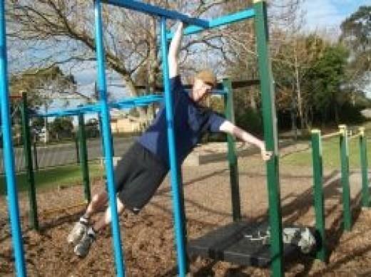 utilising any playground equipment