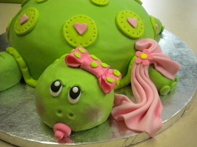Turtle Baby Shower Cake Pic