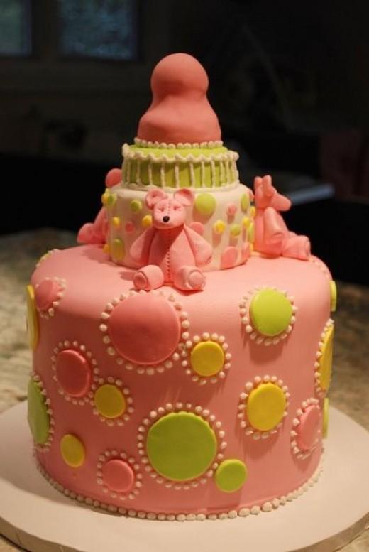 Baby Bottle Shower Cake Pic