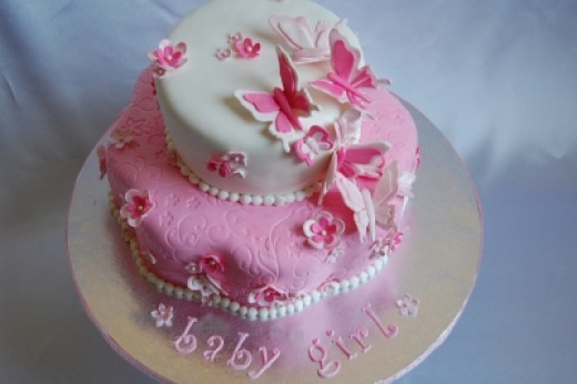 Pretty In Pink Baby Shower Cake Picture