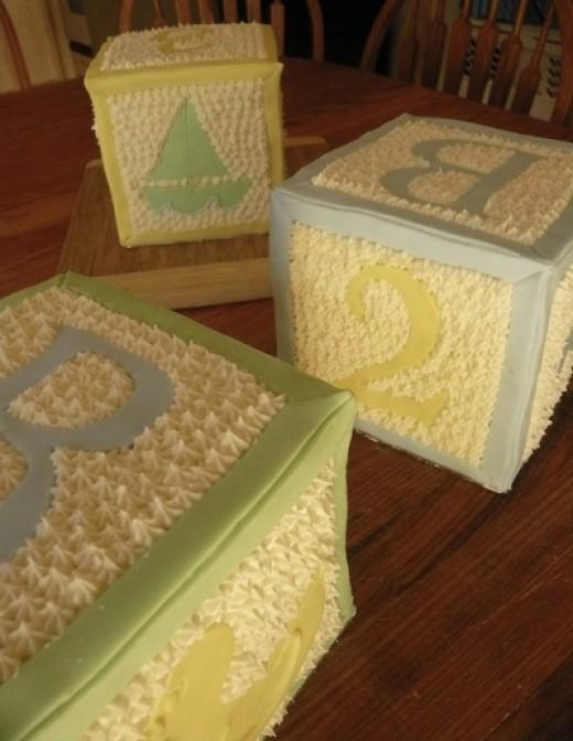 Blocks Baby Shower Cake Pic
